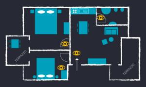 appartamento affitto casa vacanza portoscuso bed and breakfast sa cruxitta